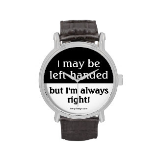 Left-handed people wrist watches