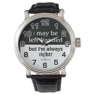 Left-handed people watches