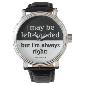 Left-handed people wristwatches