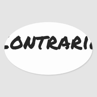 LEFT-HANDED PERSON, OPPOSED - Word games - Oval Sticker