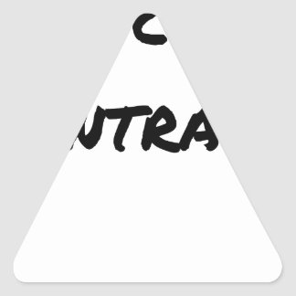 LEFT-HANDED PERSON, OPPOSED - Word games - Triangle Sticker