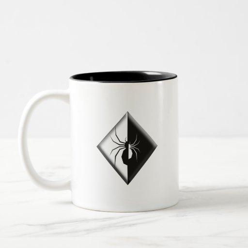 Left Handed Spider Two-Tone Coffee Mug