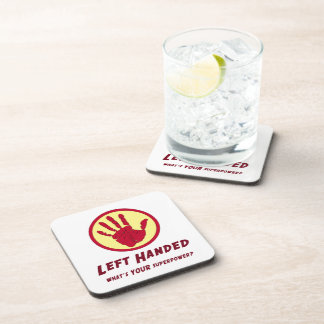 Left Handed Super Power Drink Coasters