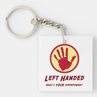 Left Handed Super Power Keychain
