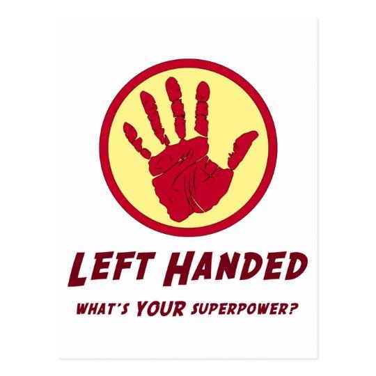 Left Handed Super Power Postcard