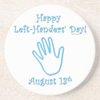 Left Hander's Day Beverage Coaster