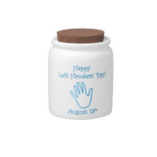 Left Hander's Day Candy Jar