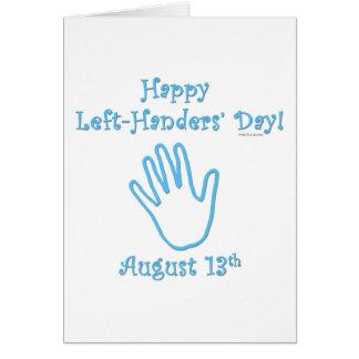 Left-hander's Day Card