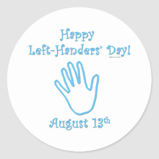 Left Handers Day Classic Round Sticker