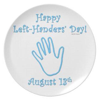 Left Hander's Day Dinner Plates