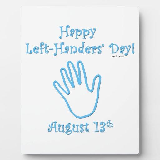 Left Hander's Day Display Plaque