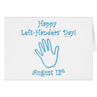 Left-hander's Day Greeting Card