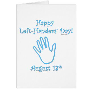Left-hander's Day Greeting Cards