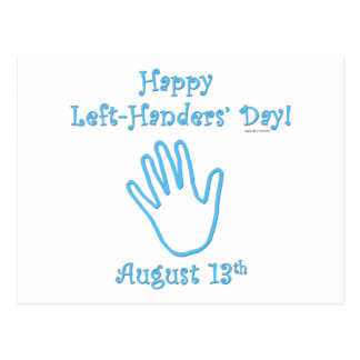 Left Handers Day Post Card