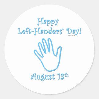 Left Handers Day Round Sticker