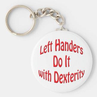 Left Handers Key Chain