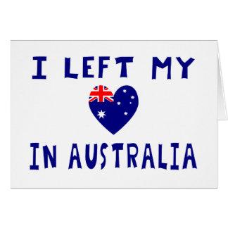 Left heart Australia Card