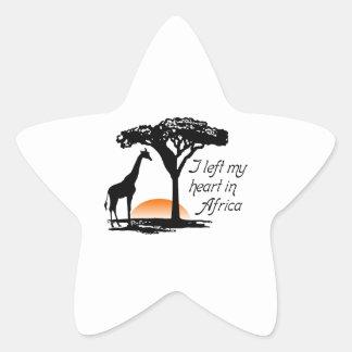 LEFT MY HEART IN AFRICA STAR STICKER