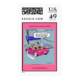 Left My Heart In San Francisco Funny Postage Stamp
