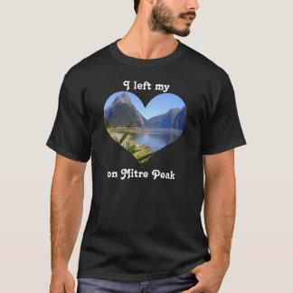 Left My Heart New Zealand South Island Mitre Peak T-Shirt