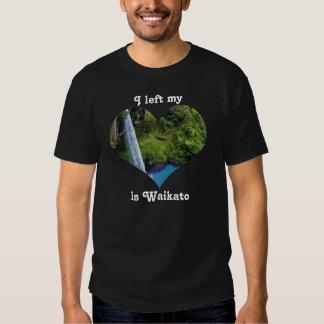 Left My Heart Waikato New Zealand BridalVeil Falls Tee Shirts