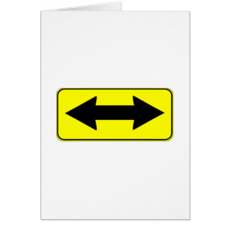 Left or Right Direction Sign Card