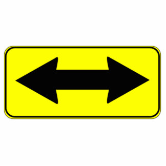 Left or Right Direction Sign Cutout