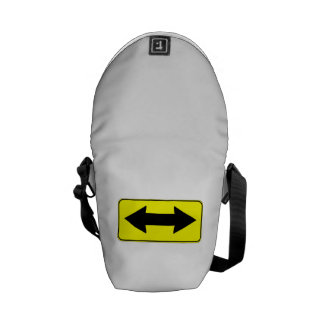 Left or Right Direction Sign Courier Bags