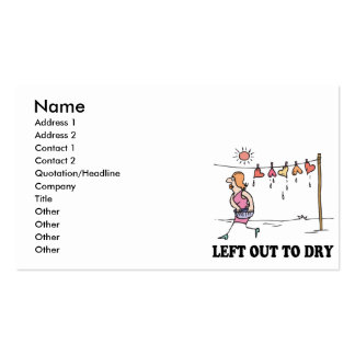 left out to dry business card template
