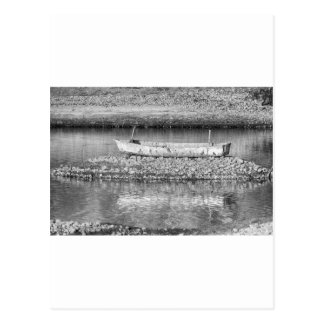 Left Over From The Flood in Black and White Postcard