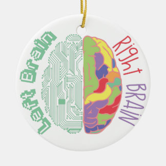 Left & Right Brain Ceramic Ornament