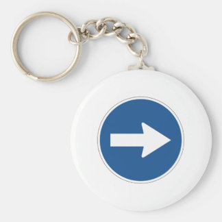 Left Right Up Arrow Sign - Products & Designs! Keychain