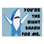 Left Shark Dancing Valentine Greeting Card