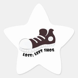 Left Shoe Star Sticker