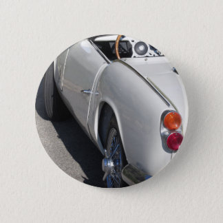 Left side of an old british classic car pinback button