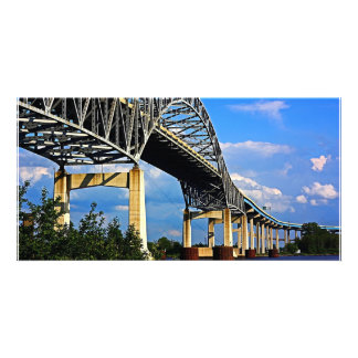 Left Side of Blatnik Bridge Photo Card Template