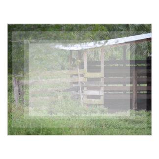 left side of wooden horse barn stall letterhead