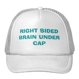 LEFT SIDED BRAIN UNDER CAP - by eZaZZleMan Trucker Hat
