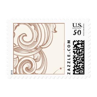 Left stamp flourish
