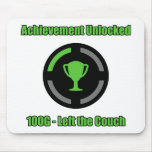 Left the Couch - Achievement Unlocked Mouse Pad