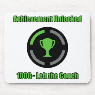 Left the Couch - Achievement Unlocked Mouse Pad