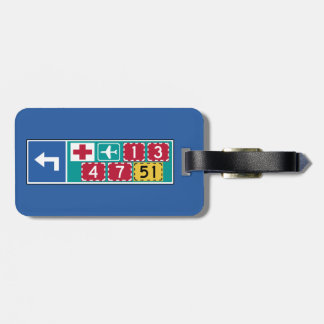 Left Turn Marker, Traffic Sign, Finland Bag Tag