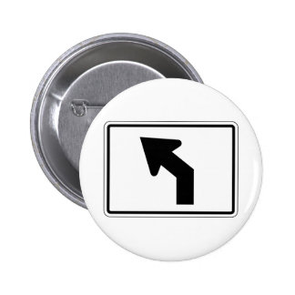 Left Turn Street Sign Button