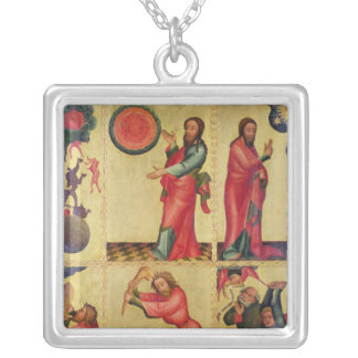 Left wing of the High Altar of St. Peter's Silver Plated Necklace