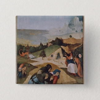 Left wing of the Triptych of the Temptation of Pinback Button