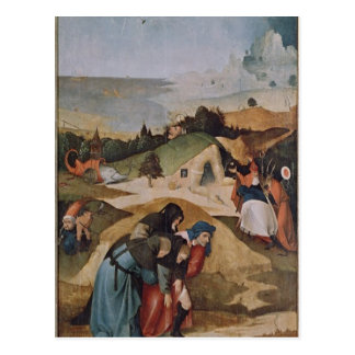 Left wing of the Triptych of the Temptation of Postcard