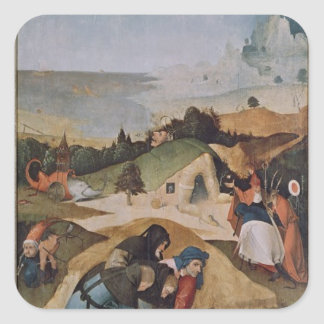 Left wing of the Triptych of the Temptation of Square Sticker