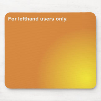lefthand mouse mouse pad