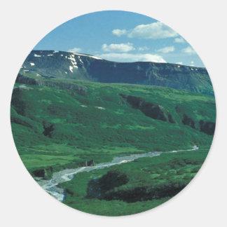 Lefthand Valley Wilderness Area in Summer Classic Round Sticker