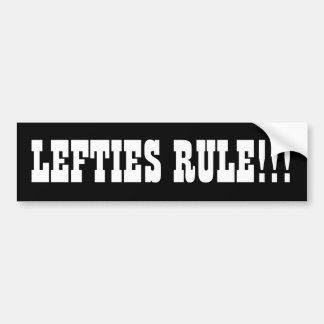 LEFTIES RULE!!! BUMPER STICKER